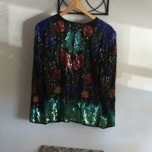 The entire Sequin jacket retro evening